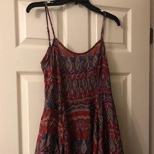 Maroon Paisley Sun Dress